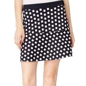 NWOT! Michael Kors Navy Checkered Skirt